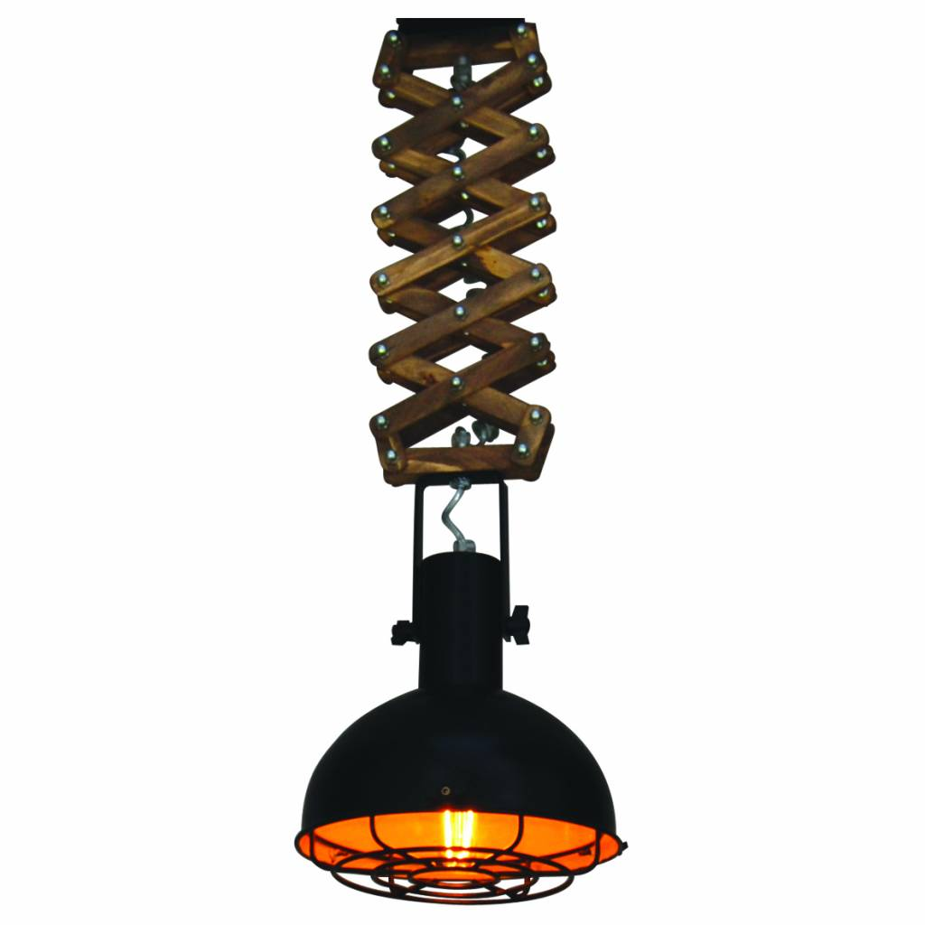 Hanglamp industrieel zwart eetkamer 240mm E27 | Myplanetled