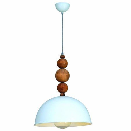Pendant light design white wood balls 380mm E27