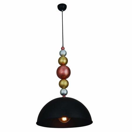 Hanglamp bollen boven eettafel zwart 380mm E27