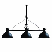 Pendant light dining room vintage black 1200mm E27x3