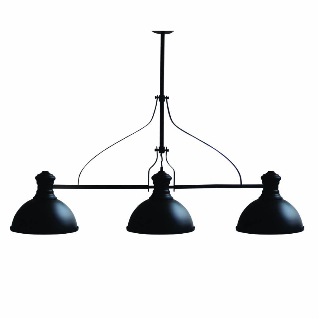 Hanglamp woonkamer industrieel zwart 1200mm E27x3 | Myplanetled