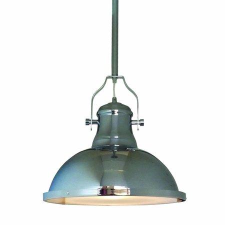 Hanglamp woonkamer chroom 380mm diameter E27