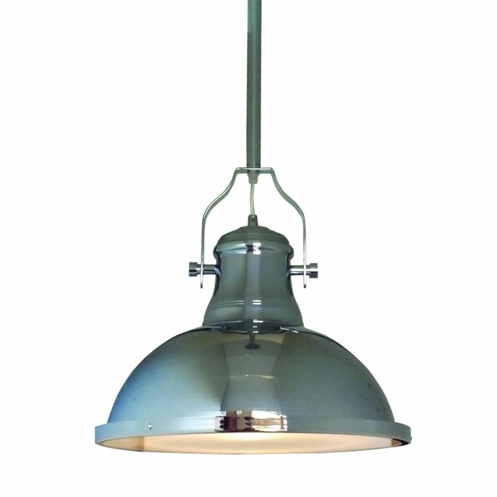Hanglamp woonkamer chroom 380mm diameter E27 | Myplanetled