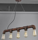Pendant light vintage rust colour 670mm E27x5