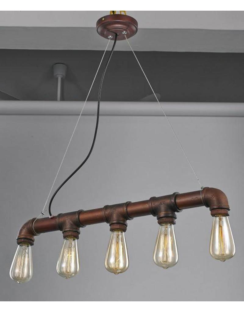 luminaire suspendu vintage rouille 670mm e27x5 myplanetled. Black Bedroom Furniture Sets. Home Design Ideas