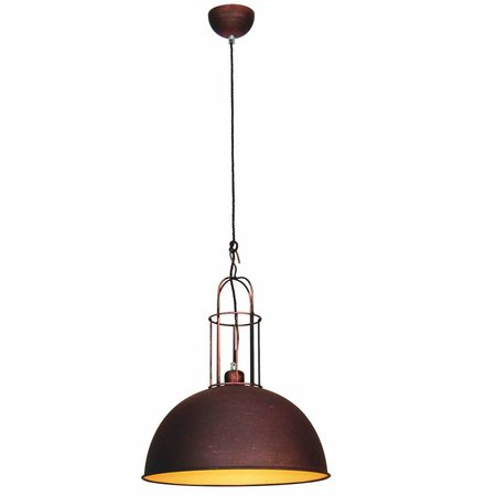 Pendant light fixture vintage copper, brown, grey 380mm
