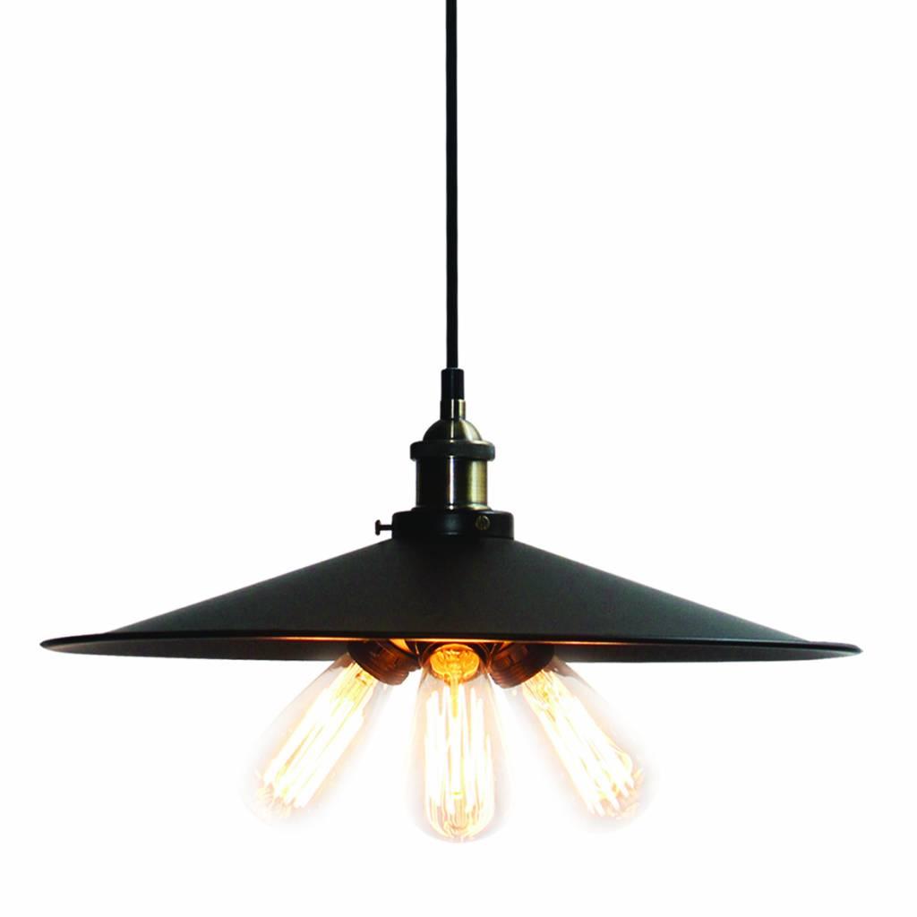 luminaire suspendu vintage noir bronze 460mm e27x3. Black Bedroom Furniture Sets. Home Design Ideas
