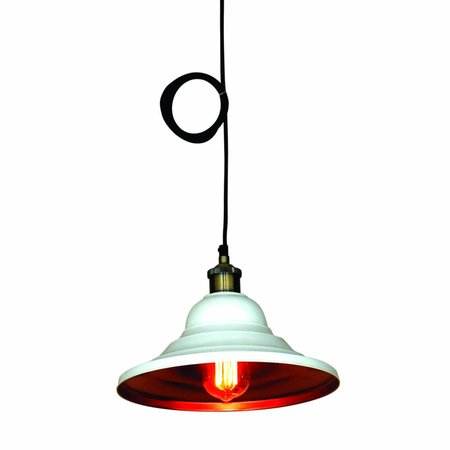 Pendant light kitchen industrial white or black 300mm Ø E27