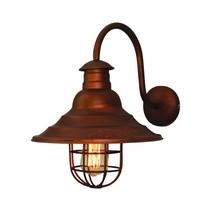 Wandlamp koper vintage boog 300mm Ø E27