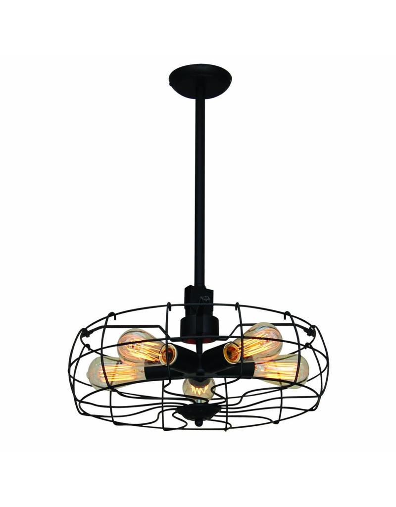luminaire suspendu noir vintage 460mm e27x5 myplanetled. Black Bedroom Furniture Sets. Home Design Ideas