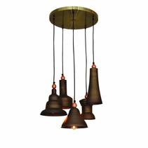 Hanglamp boven tafel bruin brons vintage 400mm Ø E27x5
