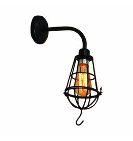 Wall light sconce vintage torch copper, chrome, black 400mm