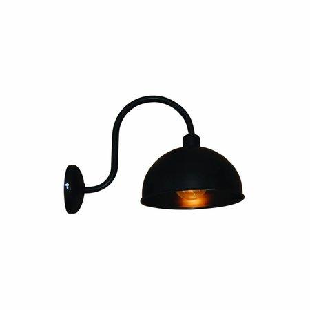 Wall light sconce industrial black arm 240mm Ø E27