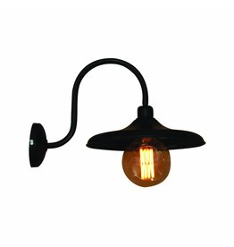 Wall light sconce industrial black with arm 300mm Ø E27