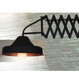 Wall light industrial black with arm 560mm E27