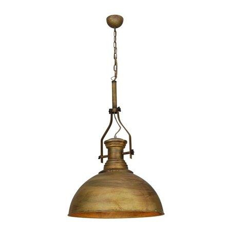 Hanglamp brons-koper-zwart-wit industrieel 500mm