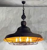 Pendant light fixture industrial rust brown yellow 970mm E27