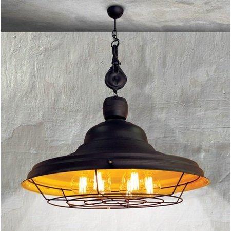 luminaire suspendu vintage brun rouill jaune e27 970mm myplanetled. Black Bedroom Furniture Sets. Home Design Ideas