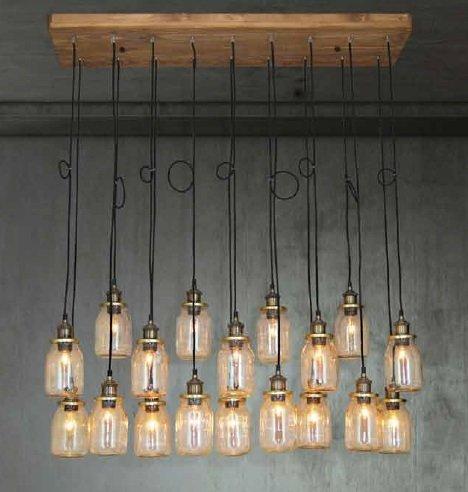 Luminaire suspendu vintage verre e27x18 1300mm myplanetled for Led hanglampen woonkamer