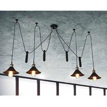 Luminaire suspendu vintage noir 1500mm Ø E27x4