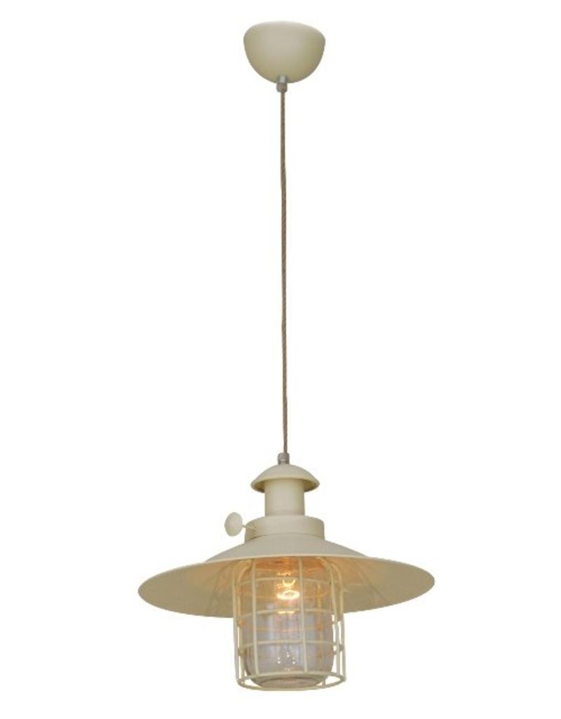 Luminaire suspendu vintage beige cage e27 340mm myplanetled - Grand luminaire suspendu ...