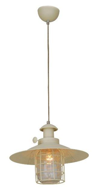 luminaire suspendu vintage beige cage e27 340mm myplanetled. Black Bedroom Furniture Sets. Home Design Ideas