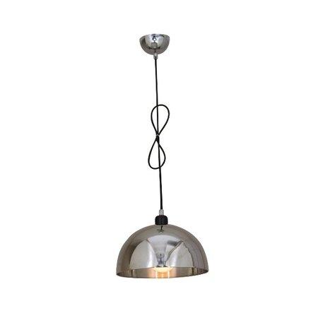 Hanglamp woonkamer chroom conisch 300mm diameter E27
