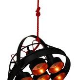 Pendant light black copper E27x7 industrial 700mm Ø