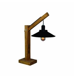 Table lamp E27 wood vintage 700mm high 310mm diameter