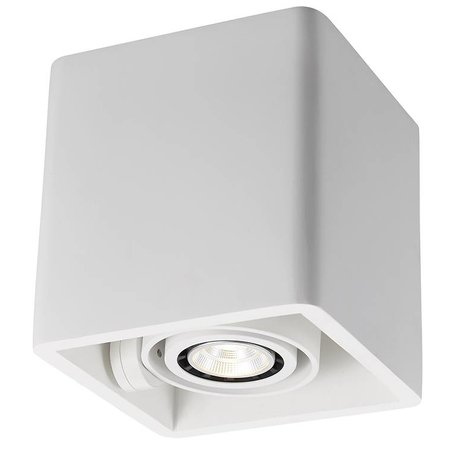 Ceiling light GU10 design plaster square 130x130mm