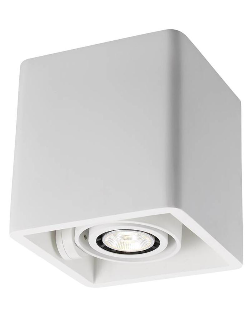 Ceiling light GU10 design plaster square 130x130mm