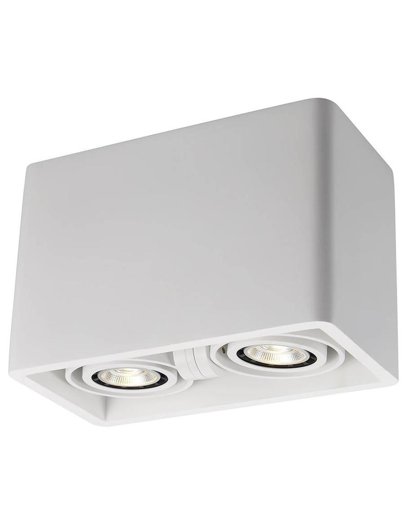 Ceiling light GU10 design plaster rectangular 205x110mm