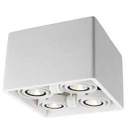 Ceiling light GU10 design plaster square 205x205mm
