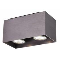Plafondlamp wit, koper bruin, zwart GU10 2x5W 180x90mm