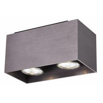 Plafonnier led GU10 blanc, noir, cuivre brun 2x5W 180x90mm
