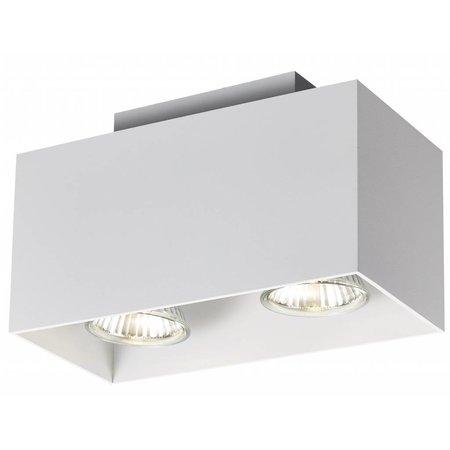 Ceiling light GU10 white, black, copper brown 2x5W 180x90mm
