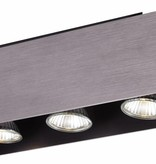 Plafonnier led GU10 blanc, noir, cuivre brun 3x5W 270x90mm