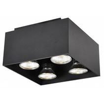Plafonnier led GU10 blanc, noir, cuivre brun 4x5W 180x180mm