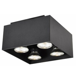 Ceiling light GU10 white, black, copper brown 4x5W 180x180mm