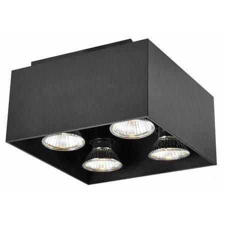 Ceiling light GU10 white, black, copper brown 4x5W 180x180mm