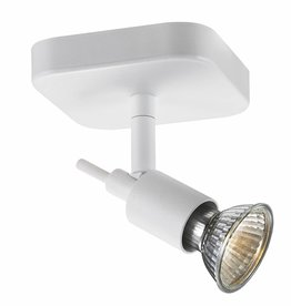 Ceiling light GU10 white or black spot on rod 5W LED