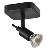 Ceiling light GU10 white or black spot on rod 5W LED