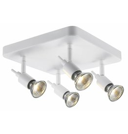 Ceiling light GU10 white or black spot on rod 4x5W LED
