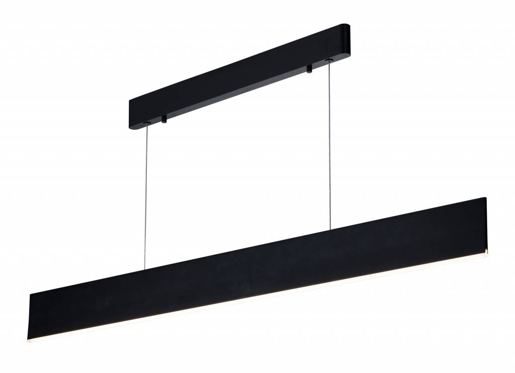 lange hanglamp smd led strak wit of zwart 37w 1 8m myplanetled. Black Bedroom Furniture Sets. Home Design Ideas