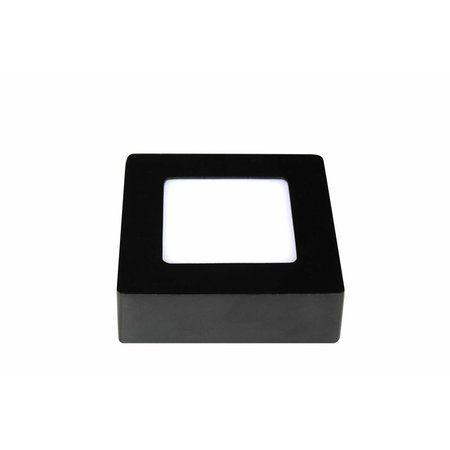 Ceiling light LED black & white 120x120mm 6W