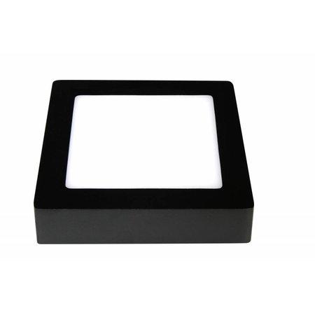 Ceiling light LED black & white 175x175mm 12W