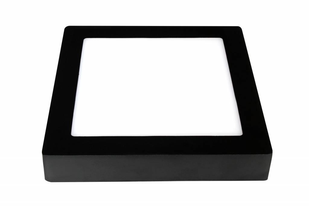 Ceiling light LED black & white 235x235mm 18W
