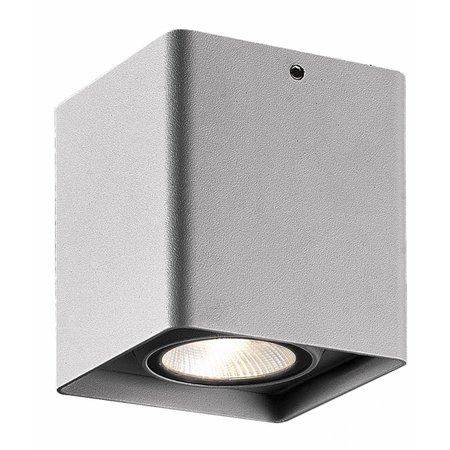 Plafonnier LED salle de bain blanc, noir, gris 9W 90cm carré