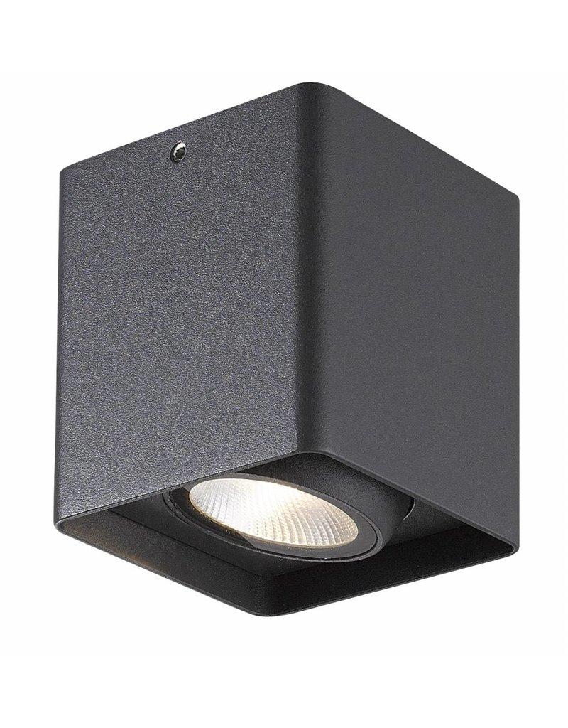 Ceiling light bathroom LED white, black or grey 9W 900mm square