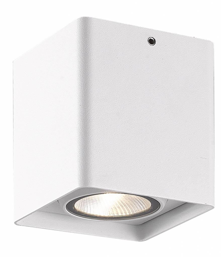 Plafonnier LED salle de bain blanc noir gris 9W 90cm carré